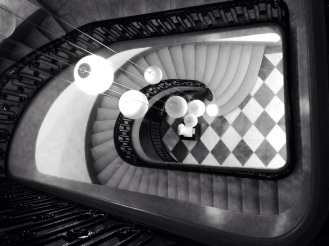 Escalier de la CCI Bordeaux © Nathalie Tiennot