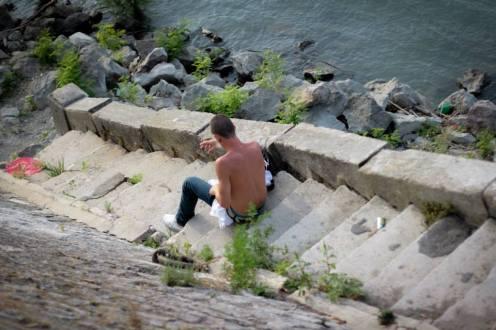 Inconnu du fleuve © Arles, juillet 2013, Nathalie Tiennot
