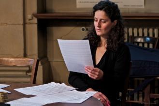 La soprano Maria Andrea Parias Lopez en répétition © Nathalie Tiennot, Oratoire du Louvre, Paris, 2011