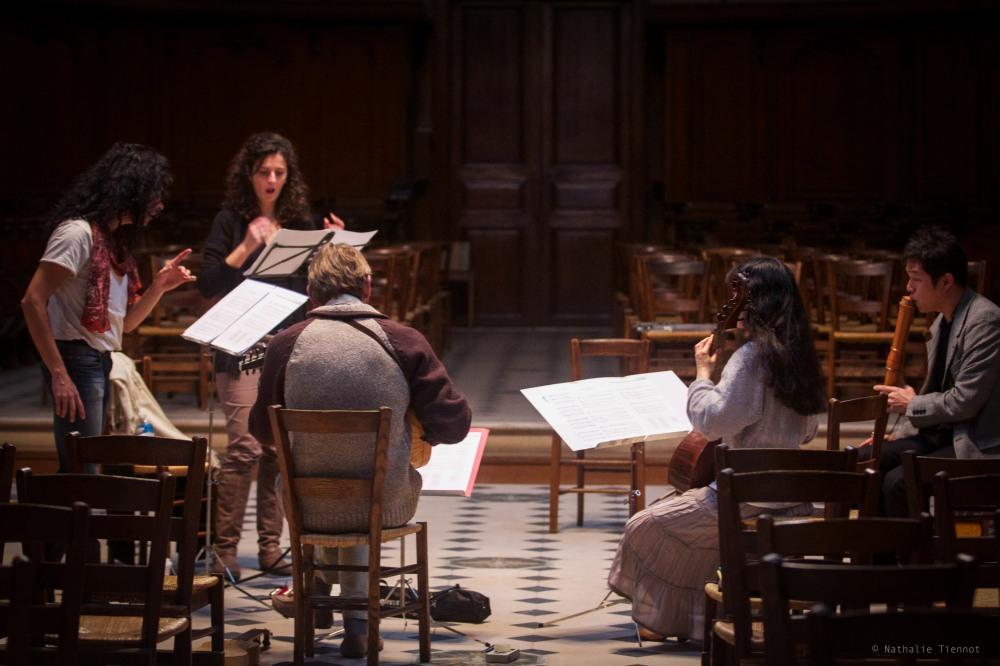 Enregistrement d'Academia dos singulares © Nathalie Tiennot, Oratoire du Louvre, Paris. 2012