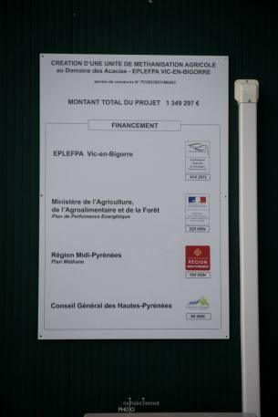 Unité de méthanisation - Vic en Bigorre, 2014 © Nathalie Tiennot