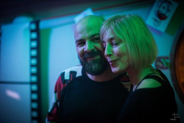Marcus Sur & sa compagne, Canal Auditif, Toulouse, février 2015 © Nathalie Tiennot